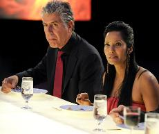 Padma and Anthony Bourdain deliberate
